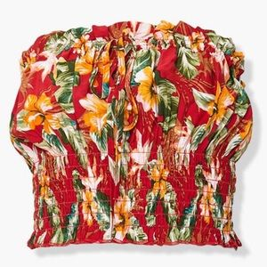Hawaiian Floral Tube Top By Forever 21
